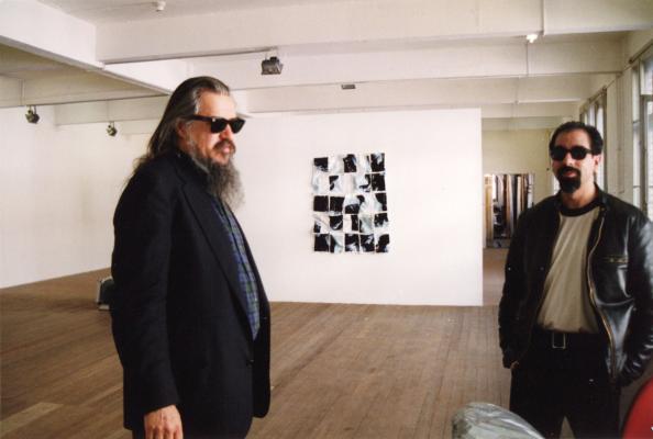 Olivier Mosset_Stephen Parrino_at_Galerie_Susanna Kulli_1998